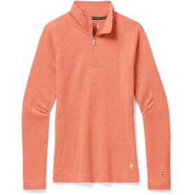 Smartwool Merino 250 Maglia Baselayer Con Zip 1/4 Donna, arancione